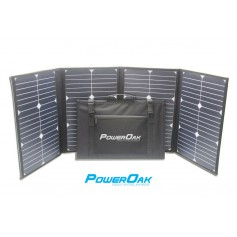- PowerOak S80 solar foldable panel 80W/18V - Solar panels - S80